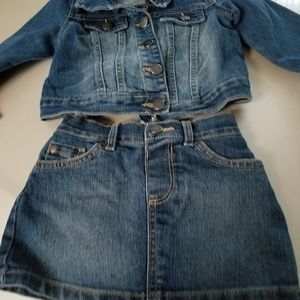 The Childrens Olace Jean Jacket and Skirt 12 -24m